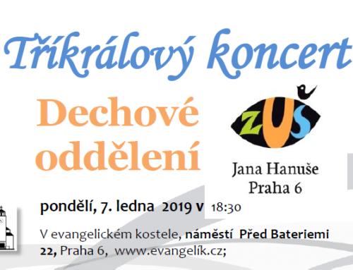 Tříkrálový koncert – Dechové oddělení ZUŠ Jana Hanuše