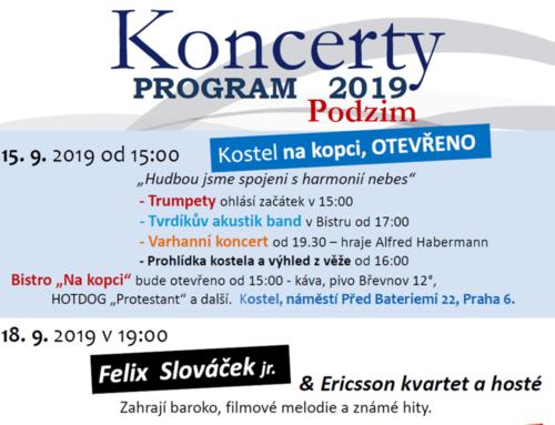 Koncerty Na kopci- program podzim 2019