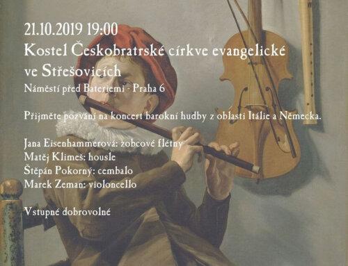 Koncert barokní hudby vpondělí 21.10.