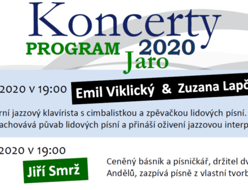 Koncerty na kopci – Program jaro 2020
